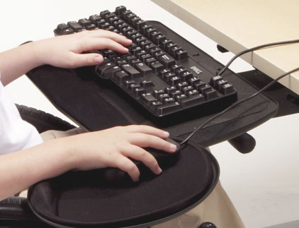 Articulating Keyboard Tray & Mouse Platform