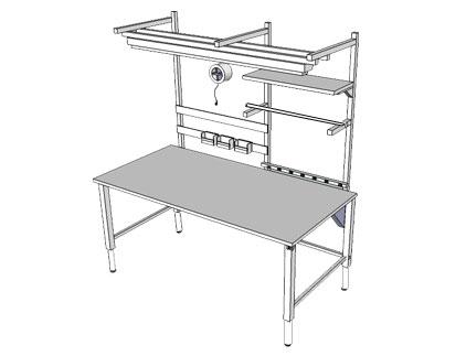 Accella Adjustable Workbench - 4Leg