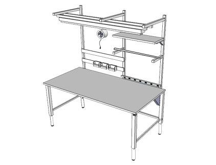 Infinity Adjustable Workbench - 4Leg