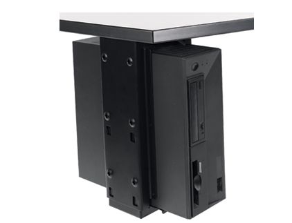 Under-desk CPU Holder with Slide and Swivel