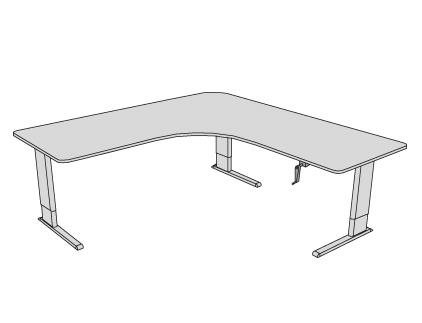 Accella Adjustable Perfect Corner Desk