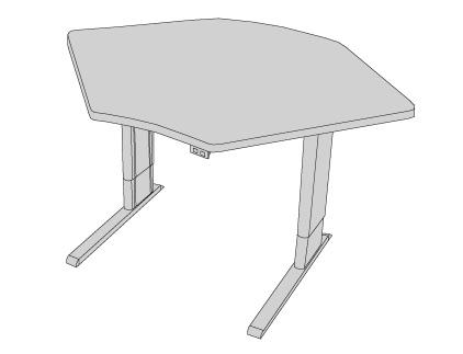 Infinity Adjustable Corner Workstation Single Surface