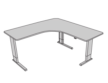 Infinity Adjustable Perfect Corner Desk